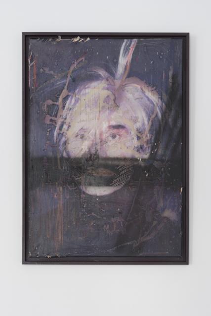 Andy Warhol – autoportret, 2016, 2016, wydruk na płótnie, tech. własna, 100x70 cm. Fot. Tytus Szabelski