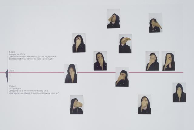 SCUM dziennik, 2016, wydruk cyfrowy, fotografia barwna, każda 15x10 cm. Fot. Tytus Szabelski